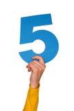 pięć liczb Fotografia Stock