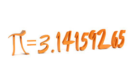 Pi number with his value. On white Royalty Free Stock Image