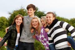 pięć przyjaciół Zdjęcia Royalty Free