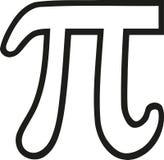 Pi sign outline. Maths vector vector illustration