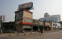 pięć sklepów zniszczone ogień Zdjęcie Stock