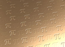 Pi symbol golden background Stock Images
