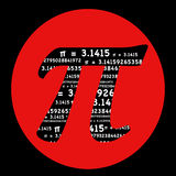 PI symbol with red circle Royalty Free Stock Photos