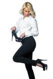 pięt wysoka butów kobieta Obraz Stock