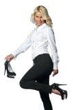 pięt wysoka butów kobieta Obrazy Stock
