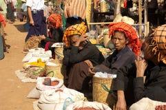 piątek targowy Myanmar nyaung shwe Zdjęcia Stock