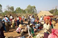 piątek targowy Myanmar nyaung shwe Obrazy Stock