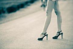 piętowa wysoka nóg butów kobieta Obraz Stock