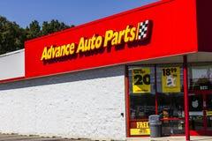 Pi Wayne - vers en septembre 2016 : Les pièces d'auto anticipées vendent l'emplacement au détail II Images stock