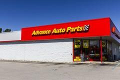 Pi Wayne - vers en septembre 2016 : Les pièces d'auto anticipées vendent l'emplacement au détail III Photo stock