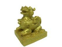 Pi Xiu, guld- kinesisk berlock för bra lycka arkivfoton