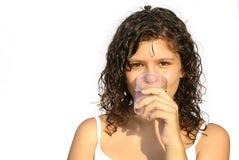 pić zdrowej wody Obrazy Stock