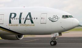 PIA Airlines Boeing 777 Royalty Free Stock Photography