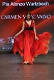 Pia Alonzo Wurtzbach walks the runway at The American Heart Association's Go Red For Women Red Dress Collection 2016 Royalty Free Stock Photography
