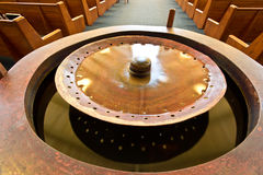 Pia batismal baptismal fotografia de stock