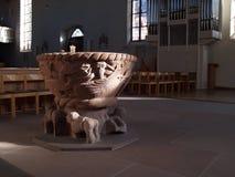 Pia batismal baptismal Imagem de Stock Royalty Free