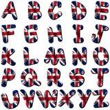 Pia batismal britânica da bandeira ilustração royalty free