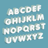 pia batismal 3D O alfabeto rotula a placa de giz Ilustração do vetor Foto de Stock Royalty Free
