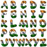 Pia batismal da bandeira de India ilustração stock