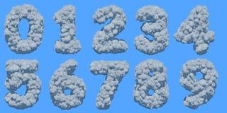 Pia batismal da nuvem ilustração stock