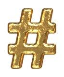 Pia batismal dourada. Sharp do símbolo. Imagens de Stock Royalty Free