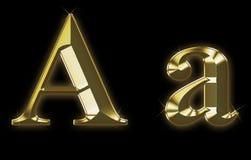 Pia batismal exclusiva da coleção do ouro escovado - A Foto de Stock Royalty Free