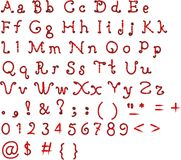 Pia batismal original, alfabeto em um fundo branco Imagens de Stock Royalty Free