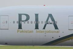 Pia-Düsenflugzeug stockfotos
