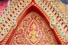 Pia di Wat Puak, tempio in Chiang Mai Thailand fotografia stock