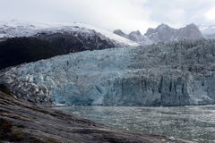Pia glacier on the archipelago of Tierra del Fuego. Royalty Free Stock Images