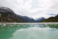 Pia Glacier i Patagonia, Chile i sommar arkivfoton