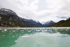 Pia Glacier nella Patagonia, Cile di estate fotografie stock