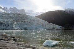 Pia-Gletscher auf dem Archipel von Tierra del Fuego stockfotografie