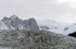 Pia-Gletscher auf dem Archipel von Tierra del Fuego lizenzfreies stockfoto