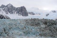 Pia-Gletscher auf dem Archipel von Tierra del Fuego stockfoto