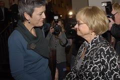 PIA KJAERSGAARD 30 ANS DANS LA POLITIQUE Photos stock