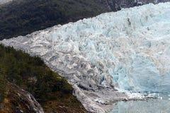 Pia lodowiec na archipelagu Tierra Del Fuego fotografia stock