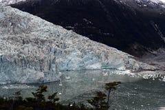 Pia lodowiec na archipelagu Tierra Del Fuego fotografia royalty free