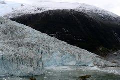 Pia lodowiec na archipelagu Tierra Del Fuego zdjęcia stock