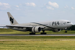 PIA Pakistan Airlines Boeing 777 Stock Image