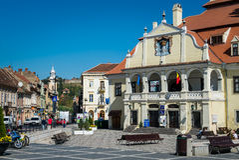 Piaţa Sfatului in Brașov Royalty Free Stock Image