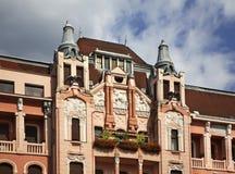 Piac (市场)街道在德布勒森 匈牙利 库存照片