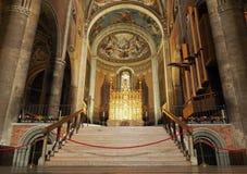 PIACENZA 25 aprile 2018: Altare nella cattedrale di Piacenza Piacenza, Italia Immagine Stock Libera da Diritti