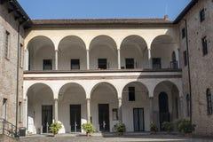 Piacenza: the historic building known as Palazzo Farnese. Piacenza, Emilia Romagna, Italy: courtyard of the historic building known as Palazzo Farnese royalty free stock image