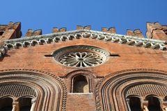 Piacenza, Italy. Emilia-Romagna region. Palazzo Communale, also known as Il Gotico stock images