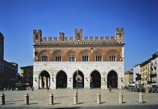 Piacenza piazza Cavalli Royaltyfria Bilder