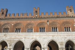 Piacenza: Piazza Cavalli, hoofdvierkant van de stad Stock Fotografie