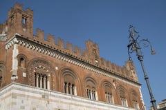 Piacenza: Piazza Cavalli, hoofdvierkant van de stad Royalty-vrije Stock Fotografie