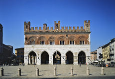 Piacenza Piazza Cavalli Royalty Free Stock Images