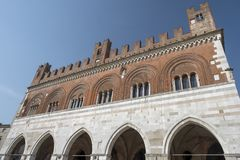 Piacenza: Piazza Cavalli, main square of the city Royalty Free Stock Images